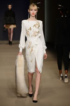 Elisabetta Franchi. See all the best looks from Milan fashion week.