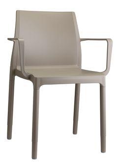 Chloé trend stoel grijs met armleuning - Scab Design