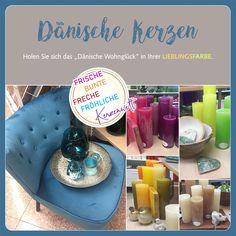 """Die neuen """"Dänischen Kerzen"""" sind eingetroffen. Es geht frisch, bunt, frech & fröhlich zu in unserer Kerzenwelt! Holt euch das """"Dänische Wohnglück"""" in eurer Lieblingsfarbe auch zu euch nach Hause.   Wir freuen uns auf euren Besuch.  #colouryourlife #kerzenwelt #dänischekerzen #farbensteger Schrift Design, Bunt, Incense, Home Decor Accessories, Colors, Fresh"""