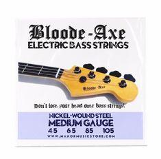 4 String Electric Bass Strings Nickel Wound Steel 45-105  medium gauge  #BloodeAxe
