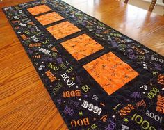 Quilted Halloween Table Runner  Spiders  Spider Webs by KeriQuilts, $55.00