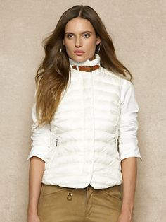 Channel-Quilted Down Vest - Outerwear   Women - RalphLauren.com