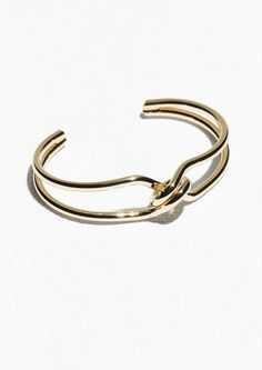 & Other Stories Tangled Golden Cuff in Gold