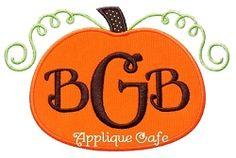 Pumpkin 7 Applique - 3 Sizes! | Fruit/Vegetables | Machine Embroidery Designs | SWAKembroidery.com Applique Cafe