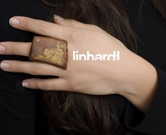 Linhardt Warp Ring in Wood with Gold and Diamonds | Recycled precious metals, ethically sourced stones and organic materials
