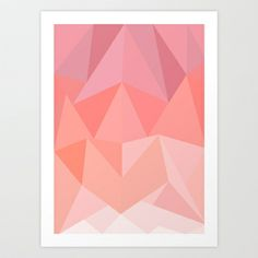 Pink Triangles  Art Print by Stacia Elizabeth - $19.99