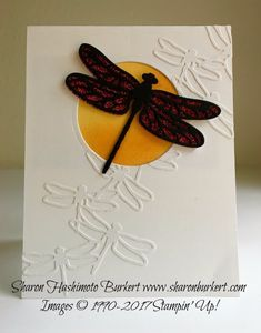 Dragonfly Dreams Again (As The Ink Dries) Hand Made Greeting Cards, Making Greeting Cards, Greeting Cards Handmade, Bee Cards, Stamping Up Cards, Rubber Stamping, Butterfly Cards, Animal Cards, Folded Cards