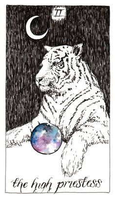 My favorite tarot car ever, for obvious reasons, from The Wild Unknown.