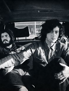 Led Zeppelin arriving in Los Angeles, 1972.