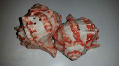 Retro Ceramic Conch Shell Salt and Pepper Shaker Set