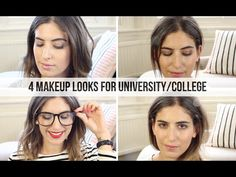 4 Makeup Looks for University/College // Lily Pebbles - YouTube