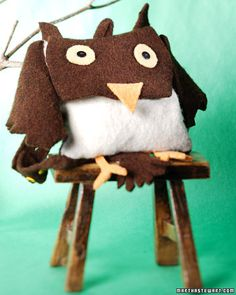 How to make an Owl Backpack -  from Martha Stewart