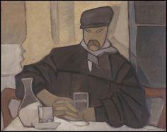 Rafael Barradas, Hombre en el cafè (Atocha). 1923. Oli sobre tela, 84 x 106 cm. Madrid. Museo Nacional Centro de Arte Reina Sofía