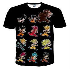 Dragon Ball Anime Son Goku All Form Transformation T-shirt  #DragonBall #Anime #Goku #All #Form #Transformation #T-shirt