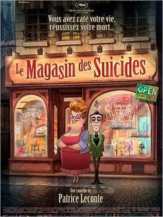 Imaginez une ville où les gens n'ont plus goût à rien, au point que la boutique la plus florissante est celle où on vend poisons et cordes pour se pendre. Mais la patronne vient d'accoucher d'un enfant qui est la joie de vivre incarnée. Au magasin des suicides, le ver est dans le fruit…  Bande-annonce : http://www.cinemovies.fr/film/le-magasin-des-suicides_e454318/videos/1