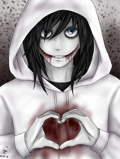 Te Amo Jeff the killer The Puppeteer Creepypasta, Scary Creepypasta, Creepypasta Proxy, Creepy Drawings, Dark Drawings, Cute Drawings, Jeff The Killer, Familia Creepy Pasta, Creepy Pasta Family