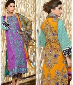 Karam Embroidered  Lawn Suits Collection 786_B
