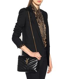 Saint Laurent - Small Loulou Monogram shoulder bag - mytheresa.com Quilted Shoulder Bags, Small Shoulder Bag, Leather Shoulder Bag, Sac Saint Laurent, Women's Crossbody Purse, Ysl Bag, Fashion Bags, Womens Fashion, Moda Vintage