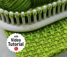 Linen Stitch on a Knitting Loom, Picture, Text and Video Tutorial. : Linen Stitch on a Knitting Loom, Picture, Text and Video Tutorial. Works-up nicely with just 2 stitches. Easy for Beginners. Look Great for Men or Women Loom Knitting Stitches, Knifty Knitter, Loom Knitting Projects, Knitting Videos, Yarn Projects, Loom Knitting Blanket, Afghan Loom, Cross Stitches, Knitting Tutorials