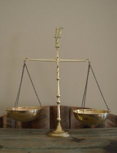 Vintage Brass Scales; Balance Scale; Scales of Justice; Brass Decor; Office Desk Accessory; Home Decor