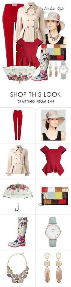"""Chic is raining everywhere!"" by shirley-de-gannes ❤ liked on Polyvore featuring Loewe, Eric Javits, Boutique Moschino, Roland Mouret, Vera Bradley, Marni, Joules and CLUSE"