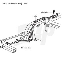 Corvette Parts and Accessories-Fuel Line Mounting Bolts