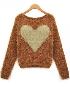 Simple elegant heart pullover sweater