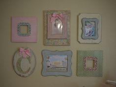 Baby Girl Shabby Chic Nursery Gallery Wall
