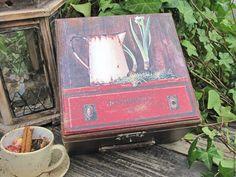 """Купить Шкатулка для чая-кофе """"Jonquille"""" - шкатулка, чайная шкатулка, чайный короб, для чая, для кофе"""