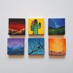 30 DIY Easy Canvas Painting Ideas for Beginners Simple Canvas Paintings, Easy Canvas Art, Small Canvas Art, Easy Canvas Painting, Mini Canvas Art, Cute Paintings, Small Paintings, Diy Painting, Canvas Ideas