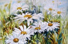 Floral watercolor by Marney Ward (Marney Ward) Art Floral, Artist Painting, Watercolour Painting, Watercolor Flowers, Art Flowers, Watercolours, Mosaic Pictures, Cross Paintings, Flower Paintings