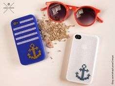 Beach Summer cross stitch case for iPhone 4 and by LanasCrespo, $30.00