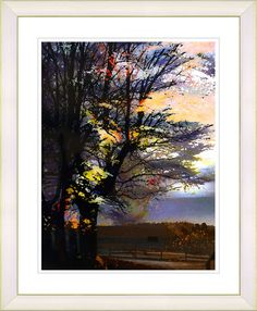 Evening Foliage by Zhee Singer Framed Fine Art Giclee Painting Print