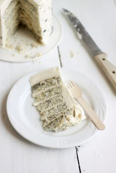 lemon popyseed cake with cream cheese frosting