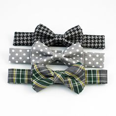Houndstooth, dots, and plaid - oh my! Boys Bow Ties, Houndstooth, Dots, Plaid, Accessories, Fashion, Moda, La Mode, The Dot
