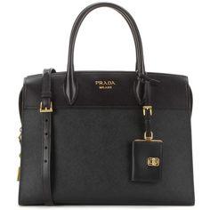 Prada Esplanade Leather Shoulder Bag (€2.455) ❤ liked on Polyvore featuring bags, handbags and shoulder bags