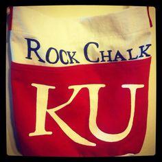 14.99 bag from Target into a custom  KU Jayhawk Gameday bag!