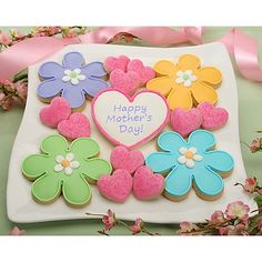 Mother's Day Cupcake and Cookie Decorating Ideas Mother's Day Cookies, Summer Cookies, Cut Out Cookies, Easter Cookies, Holiday Cookies, Valentine Cookies, Mothers Day Desserts, Mothers Day Cupcakes, Mothers Day Cake