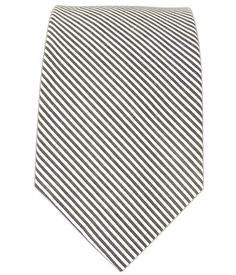 - Kingsport Stripe - White/Black (Cotton) Ties