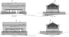 Architect drawings. Modern loghouse / Moderni hirsitalo.