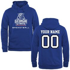 Georgia State Panthers Personalized Basketball Pullover Hoodie - Royal