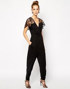 French Connection Jumpsuit with Lace Detail