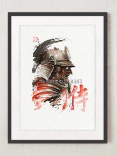 Samurai armor - japanese warrior. Bushido. https://www.etsy.com/listing/205449208/samurai-armor-japanese-tengu-mask?