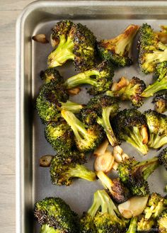 Roasted Broccoli with olive oil and garlic is an easy, tasty side dish for any meal. My 9 year old son asked for thirds!