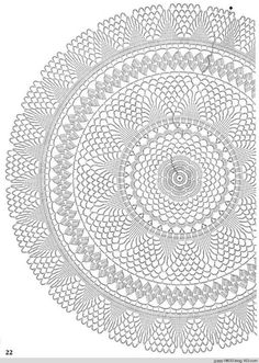 54 Ideas Crochet Rug Patterns Round For 2020 Free Crochet Doily Patterns, Crochet Mat, Crochet Doily Diagram, Crochet Circles, Crochet Round, Crochet Home, Thread Crochet, Filet Crochet, Crochet Designs