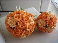 bouquet para madrinhas laranja - Pesquisa Google