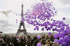 Balloons, Paris and Purple...what could be better?