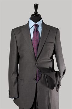 ebe646387eb Go from the office to a night out in absolute style with this Charcoal grey  suit with pinstripes and notch lapels.