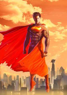 Superman, Wissam K. on ArtStation at https://www.artstation.com/artwork/xZ9bO
