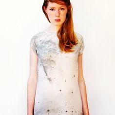 Galaxy print #shift #silver #dress
